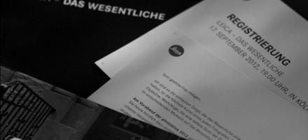 Leica – Das Wesentliche  – Einladung –  17. September 2012   Photokina Köln +